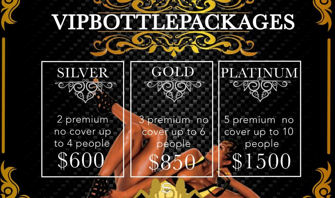 VIP BOTTLE PACKAGES AT SUGARDADDYS NYC