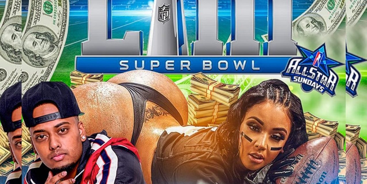 SUPER BOWL 53 ALL STAR SUNDAYS AT SUGARDADDYS NYC